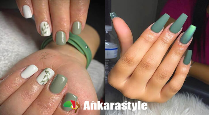 26+ Unique Olive Green Nails Ideas 2021 Perfect To Copy
