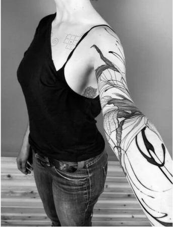 25+ Perfect Feminine Tattoo Sleeves Designs To DIY In 2020