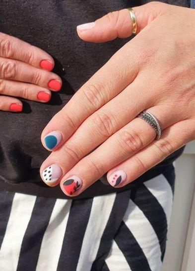 Geometric Acrylic Nail Designs