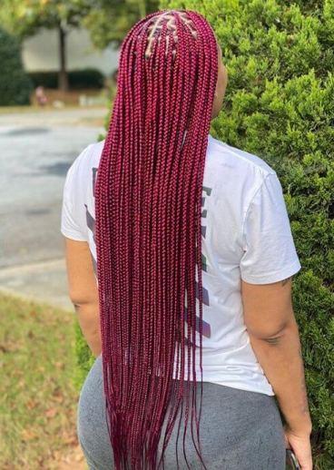 Cherry Red Braids