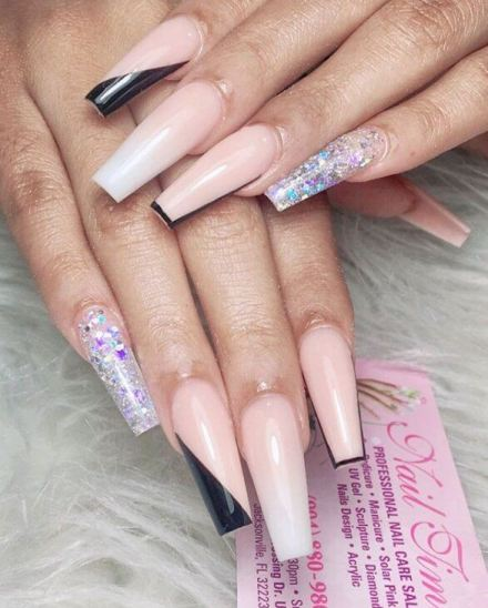 20 Best Coffin Acrylic Nails To Be Ready For 2021