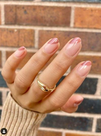 Nude Nails with Red