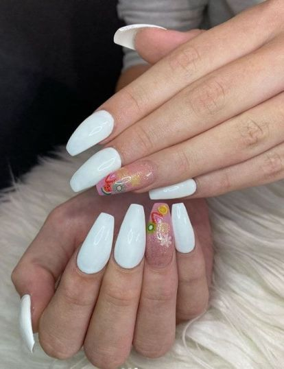 French Ombre Coffin acrylic Nails
