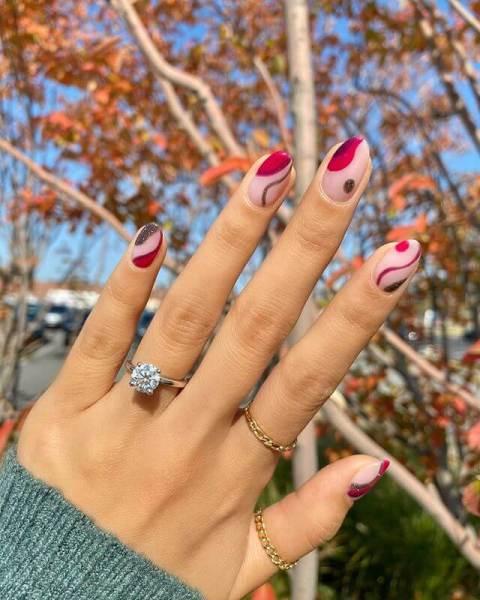 Cranberry Thanksgiving Nails