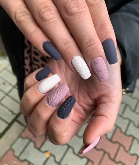 14. Colorful Matte Nails Trend Awesome Nail Art 2021 Trends