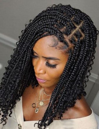 Bohemian Braids with Curls