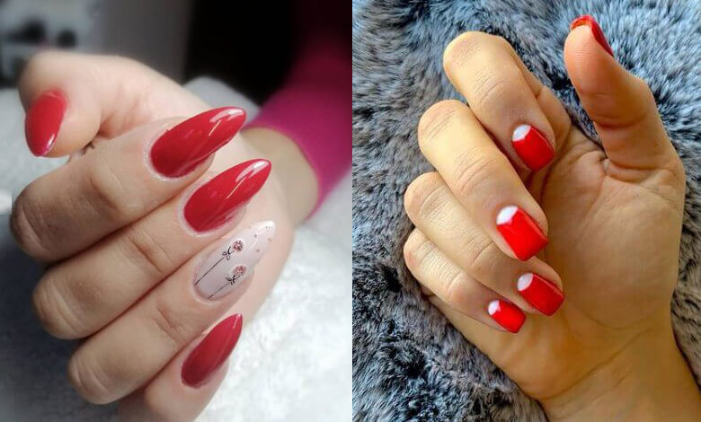 21 Red Coffin Nails with Awesome Ways to Copy In 2021