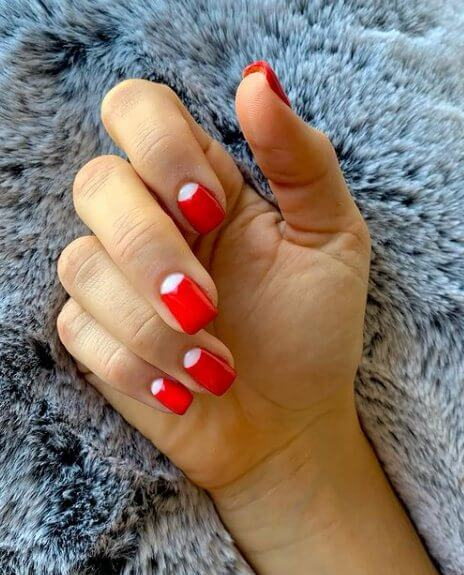 Red Glitter Ombre Nail Design