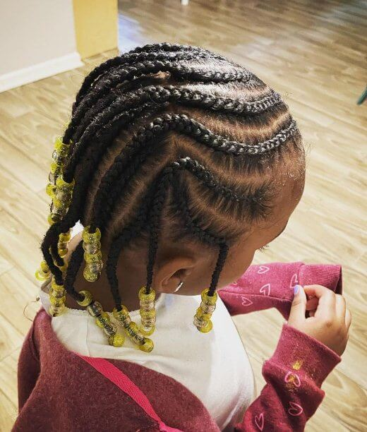 Cornrows with Beads For Kids 2021 To Create Now