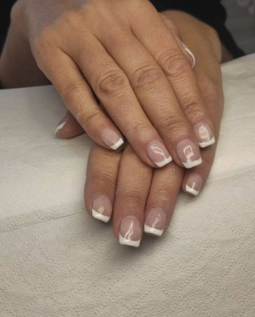 White Poly Gel Nails