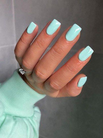 5. Pretty Pastel Blue Nails