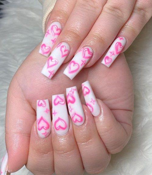 Baby Love Heart Nails