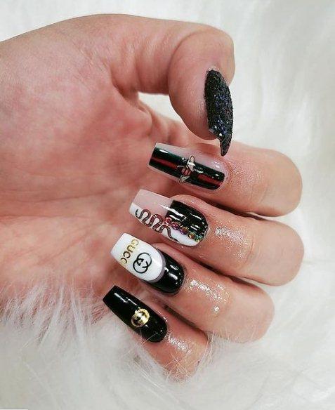 Black Gucci Nails