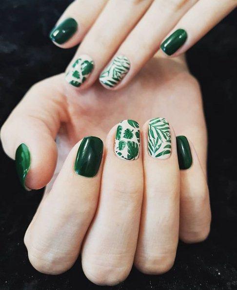 Green Lucky Clover Nails