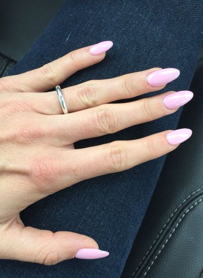 17. Long Pastel Oval Nails
