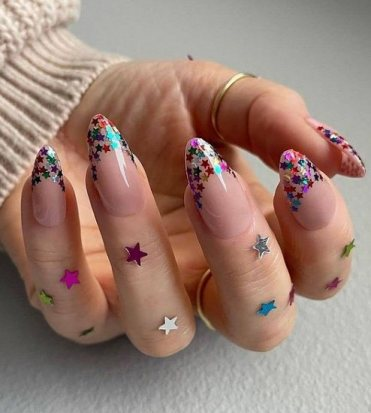 23. Rainbow Long Nails