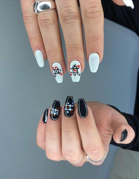 2. Hearts Nail Design