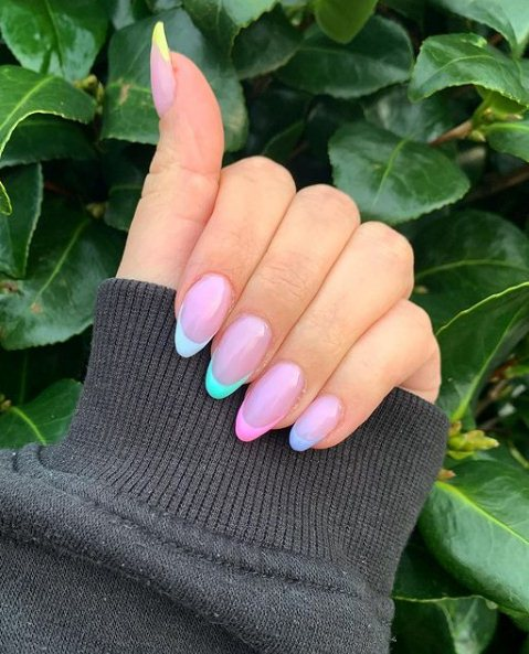 3. Almond-shaped nails for Easter