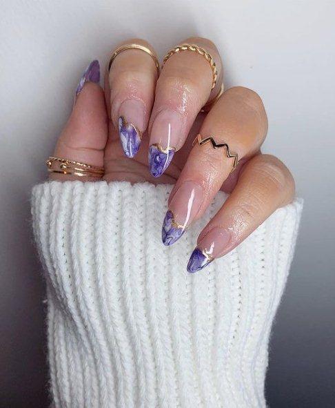Sparkly Purple Nail Art