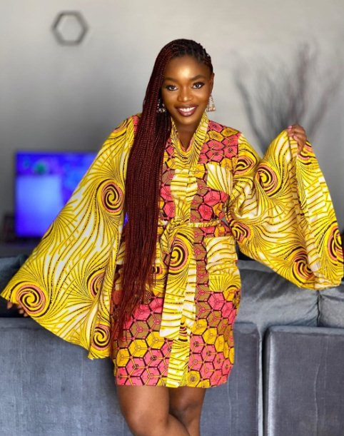 Ankara style with bell sleeves