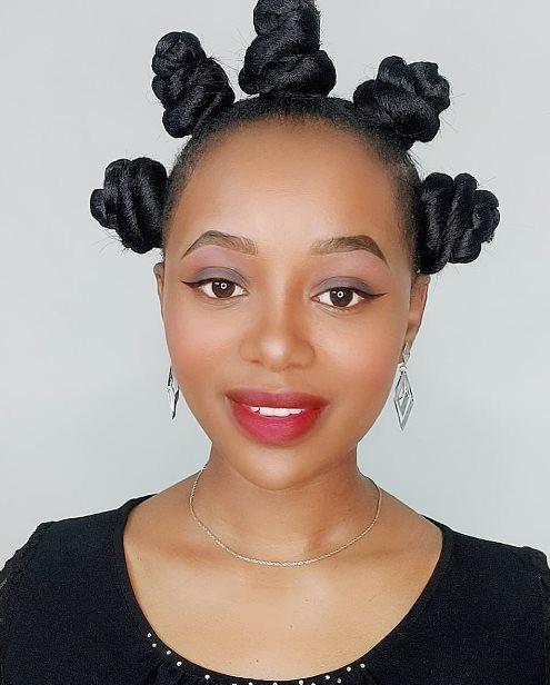 Big Bantu Knots Hairstyles