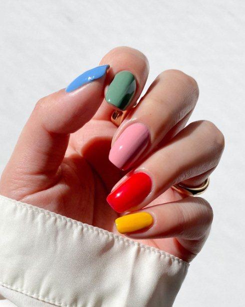 Rainbow Summer Nail Designs