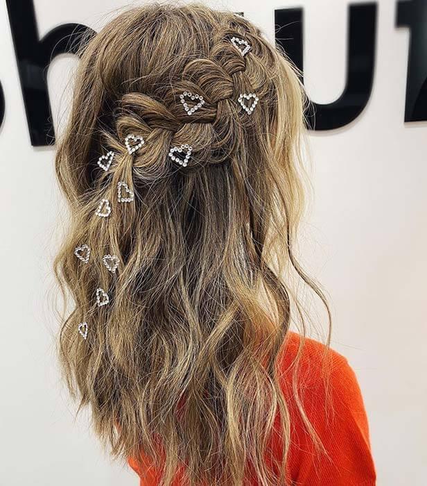 Wavy Hair with Hearts