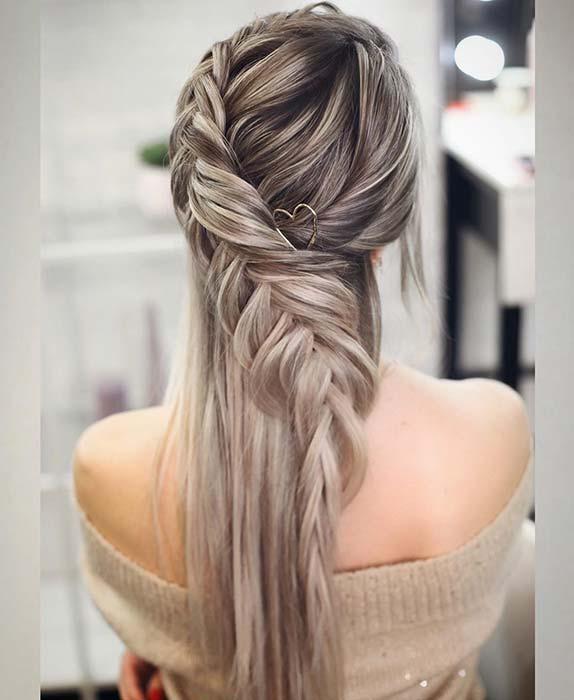 Fishtail braids Ponytail