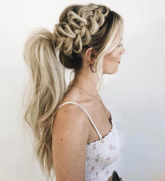 Side braid Ponytail Hairstyles