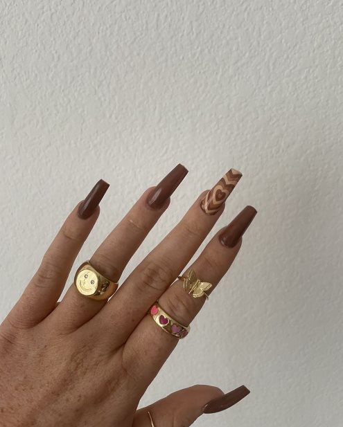 Brown Acrylic Nail Trends 2021