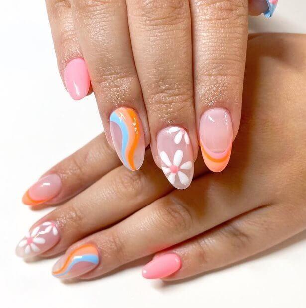 Daisy Art Nail Ideas