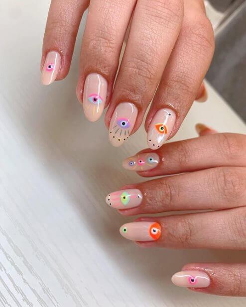 Evil eye nail art ideas