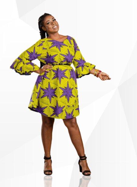 Ghanaian maternity dress for work