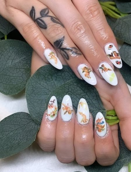 Love Angel Nail Stickers