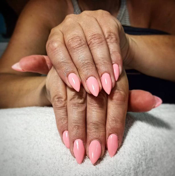Pink Ombre Nail Idea