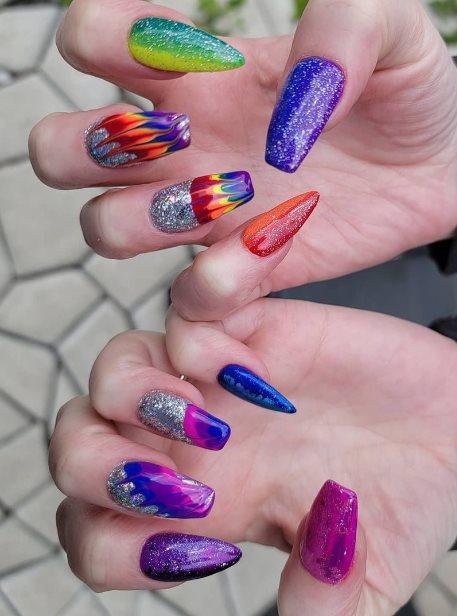 Pride nail polish