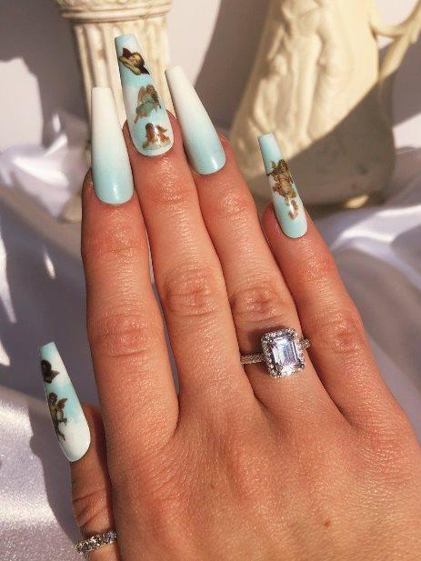 White Squoval Nails