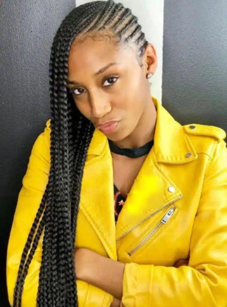 Bright lemonade braids