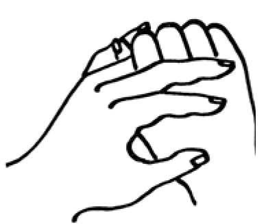 Ringfinger strömen bei Beinspannungen