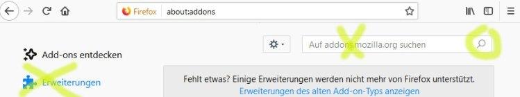 Daten - Firefox Installation Add-on
