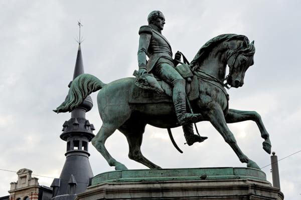 Reiterstatue des Königs Leopold I. von Belgien.