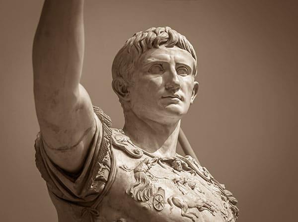 Statue von Octavian, besser bekannt als Kaiser Augustus.