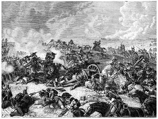 Gemälde der Schlacht von Waterloo