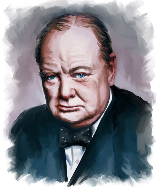 Porträt von Winston Churchill