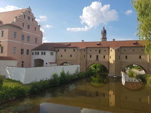 Foto von Amberg mit der Stadtbrille und dem kurfürstlichen Schloss