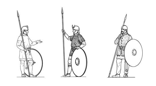 Bilder von römischen Soldaten in der Spätantike