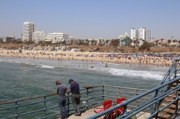 Overview of the Santa Monica beach