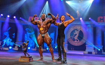 On Stage with William Bonac at The Arnold Classic
