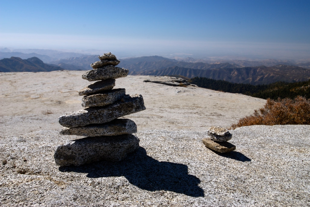 Cairn on top of Little Baldy