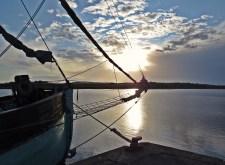 Solen på väg upp en morgon i Mönsterås.